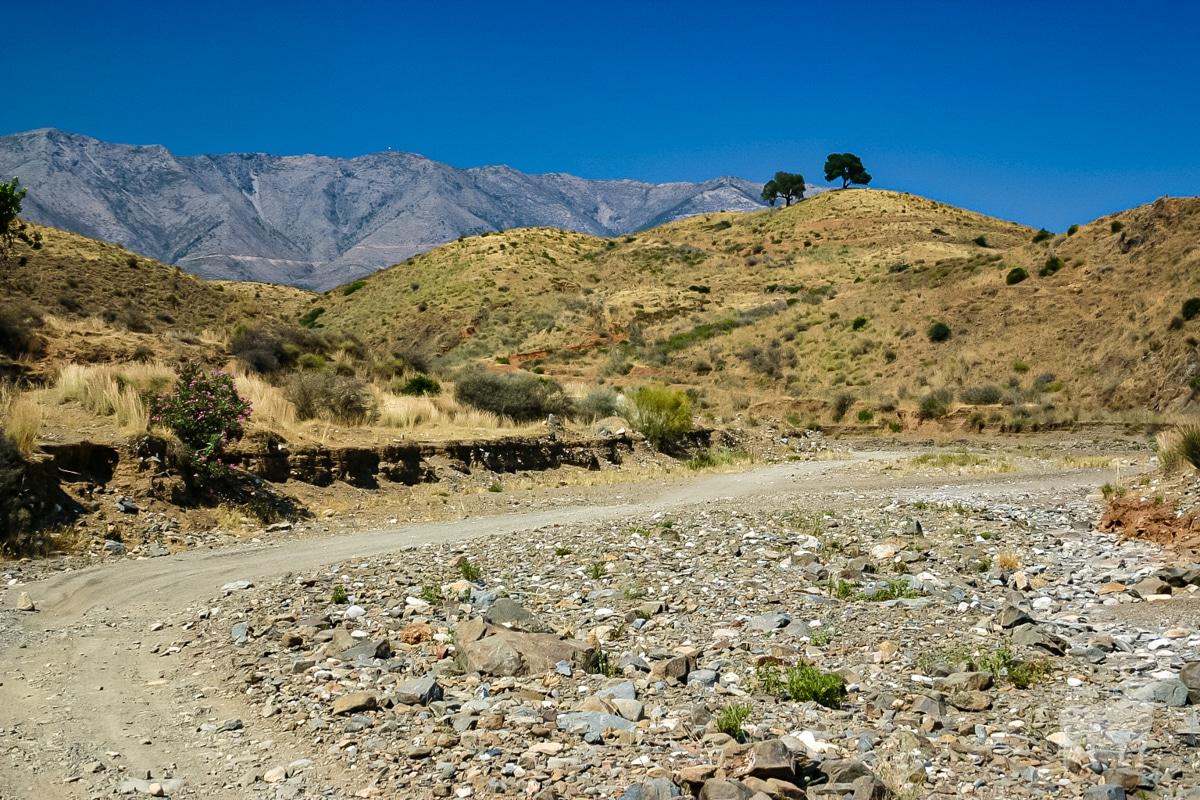 Malaga province desert like summer barreness