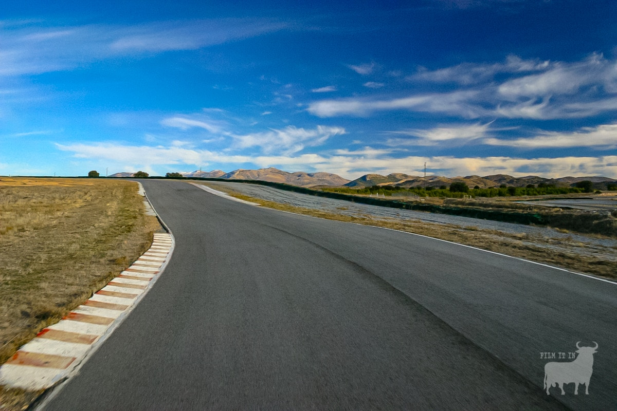 Spain film location road race track