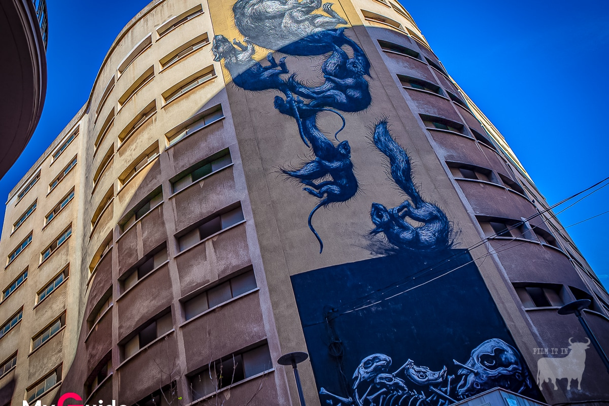 Spain urban film location graffiti Malaga
