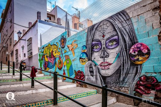 Spain urban film location graffiti Malaga