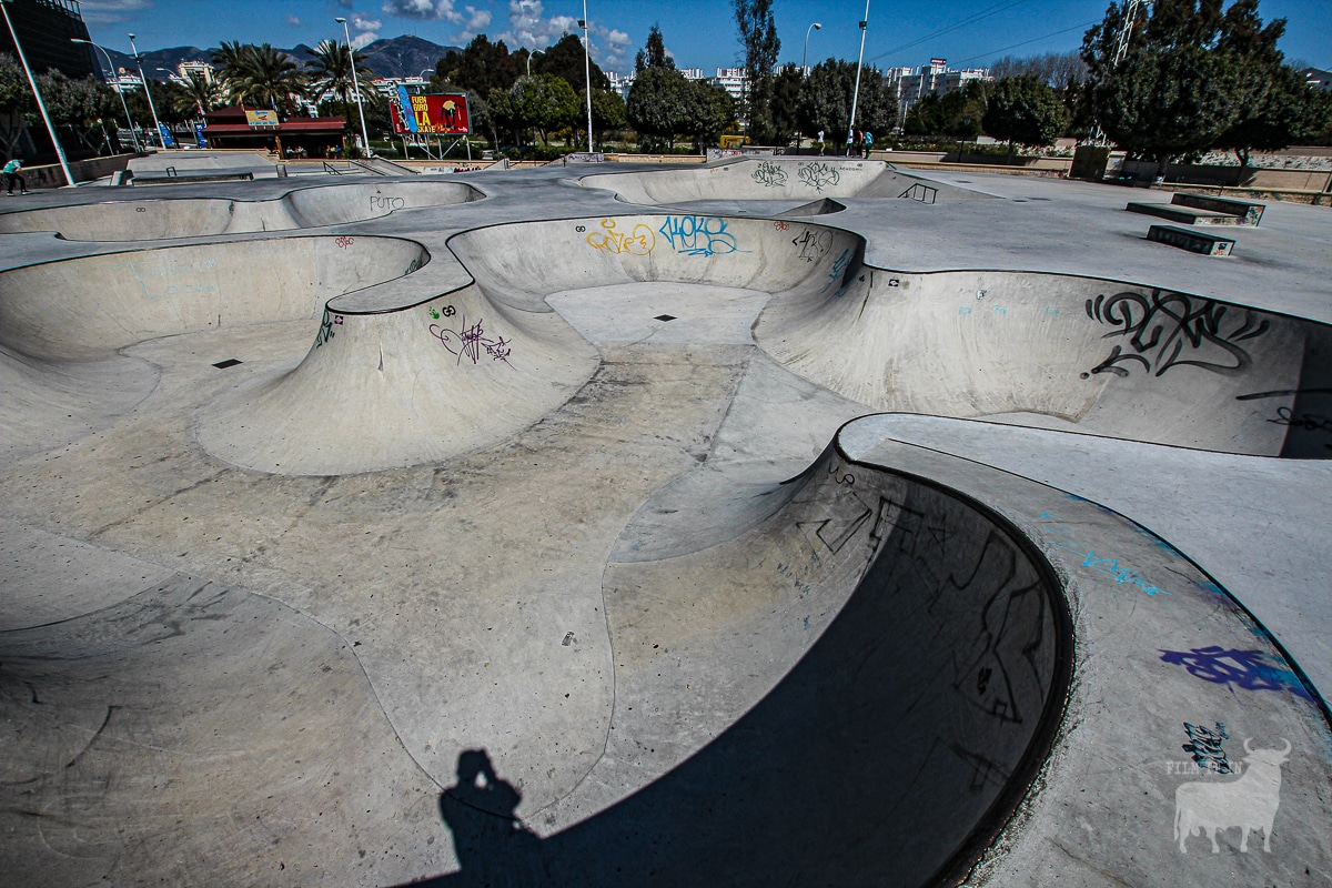 Spain film locations urban skate park