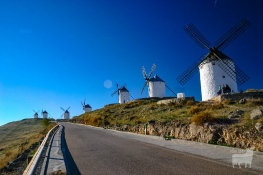Classic Spanish windmills film location