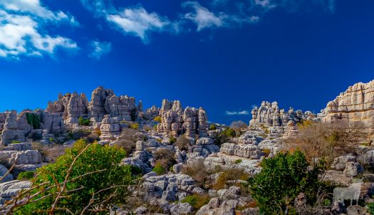 Spectacular mountain landscape film location el Torcal in Spain